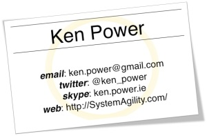 Ken Power's Business Card