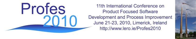 The 11th International Conference on Product Focused Software Development and Process Improvement (PROFES 2010), Limerick, Ireland