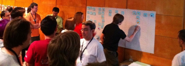 XP 2011 Participants Playing Silent Grouping