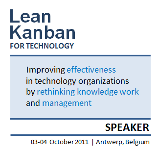 Lean & Kanban 2011 Benelux, Antwerp