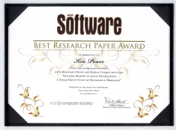 Ken Power IEEE Best Paper Award at Agile 2011