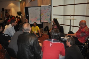 A Group Using the Starfish Exercise at the ALE2011 Retrospective