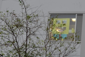 Post-It Wars - Spongebob - Outside